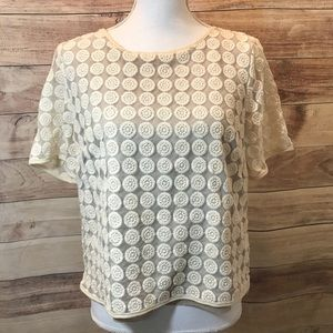 Vintage Style Short Sleeve Top